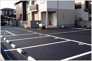 住宅地駐車場舗装工事